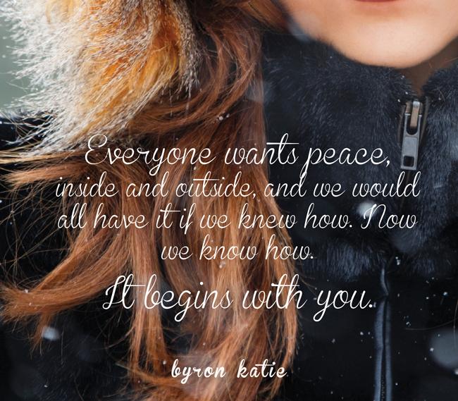 Le Travail de Katie, une façon de trouver une très grande Paix
