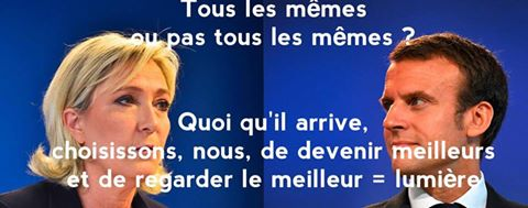 Marine LePen versus Emmanuel Macron